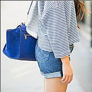 AG The Gemma Denim Cut Off Dark Wash Cuffed Shorts